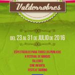 Cartel IX Semana Cultural Valderrobres 2016