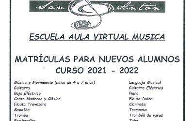 Escuela Pública de Música: matrículas nuevos alumnos